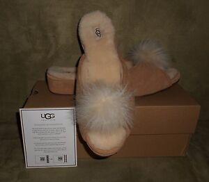 UGG-WOMEN-039-S-YVETT-CHESTNUT-SUEDE-SLIPPER-SHOES-SIZE-8-NEW-IN-BOX