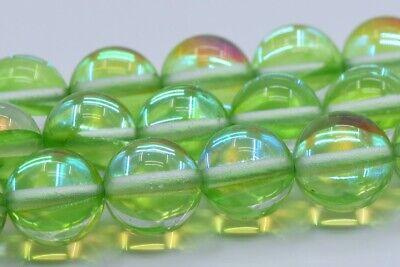 8MM Pink Mystic Aura Quartz Beads Grade AAA Round Loose Beads 104587 48 Pcs  23 Pcs
