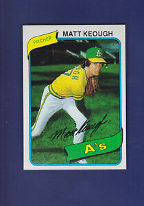 Matt-Keough-1980-TOPPS-Baseball-134-MINT-Oakland-Athletics