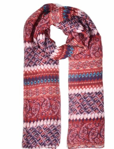 Vintage Diamond Paisley Print Pashmina Scarf  Wrap Hijab Red// Black Blue Autumn