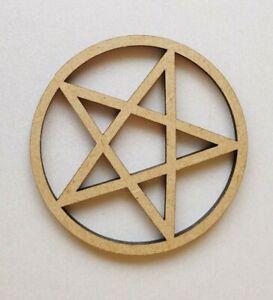 Holz-Verschiedene-Pentakel-Pentagram-Formen-Laserschnitt-MDF-Satanisch-Teufel