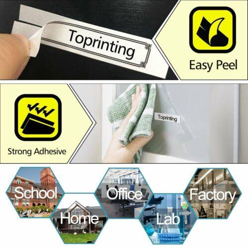 5X Compatible Dymo LetraTag Refill White Plastic 91201 12mm Label Tape Cartridge