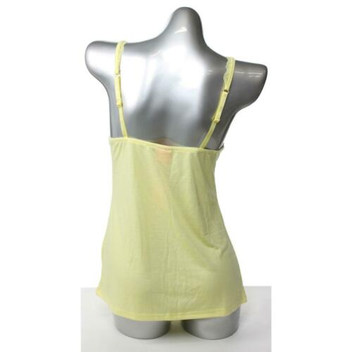 Details about  /Jennifer Moore NEW Womens L Yellow Solid Polyester//Rayon V-Neck Sleep Tank $40
