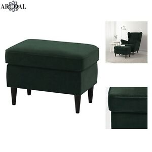 ikea strandmon footstool in dark green chair not included ebay