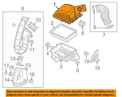 GM OEM Air Cleaner Intake-Filter Box Housing Lid Top Cover 20913557