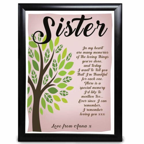 Meilleur Cadeau Personnalisé Arbre Poème Nan Nanny Nana mère s Jour Anniversaire merci