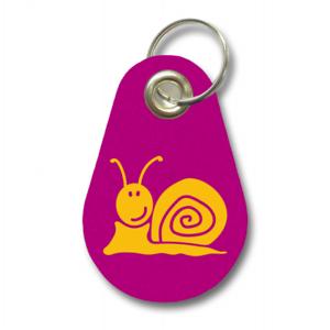 Samunshi Schlüsselanhänger Schnecke aus Filz  12 Farben 9,5x6,5cm