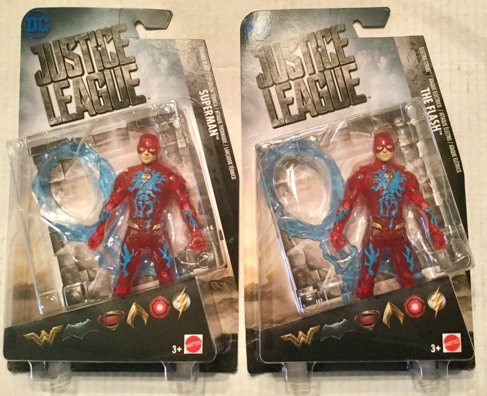 DC Justice League The Flash Figure Regular And Error Superman Card