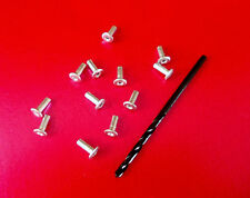 20 x BASEPLATE REPLACEMENT RIVETS AND DRILL BIT for DINKY ~ CORGI ~ SPOT ON etc