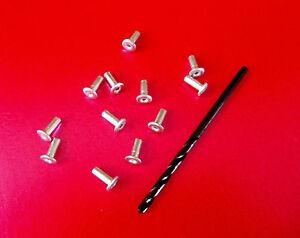 20-x-placa-base-reemplazo-Remaches-y-Broca-Para-Dinky-Corgi-Mancha-en-etc