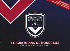 GIRONDINS DE BORDEAUX - FOOT - AGENDA-CALENDRIER 2014 - 52 PHOTOS - COLLECTOR