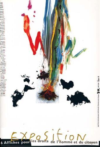 Affiche exposition Affiche Bicentenaire de la Révolution Française 1989