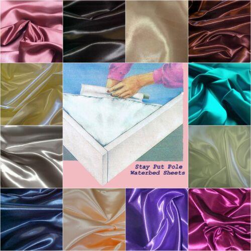 High Grade Quality Waterbed Sheet set Premium Bridal Satin 300 Thread Count