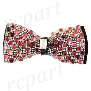 New in box Men/'s Crystal rhinestone blink Pre-tied Bow Tie Royal blue formal