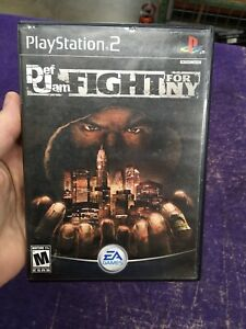 Def Jam: Fight for NY (PlayStation 2, 2004) Tested and Plays! No manual