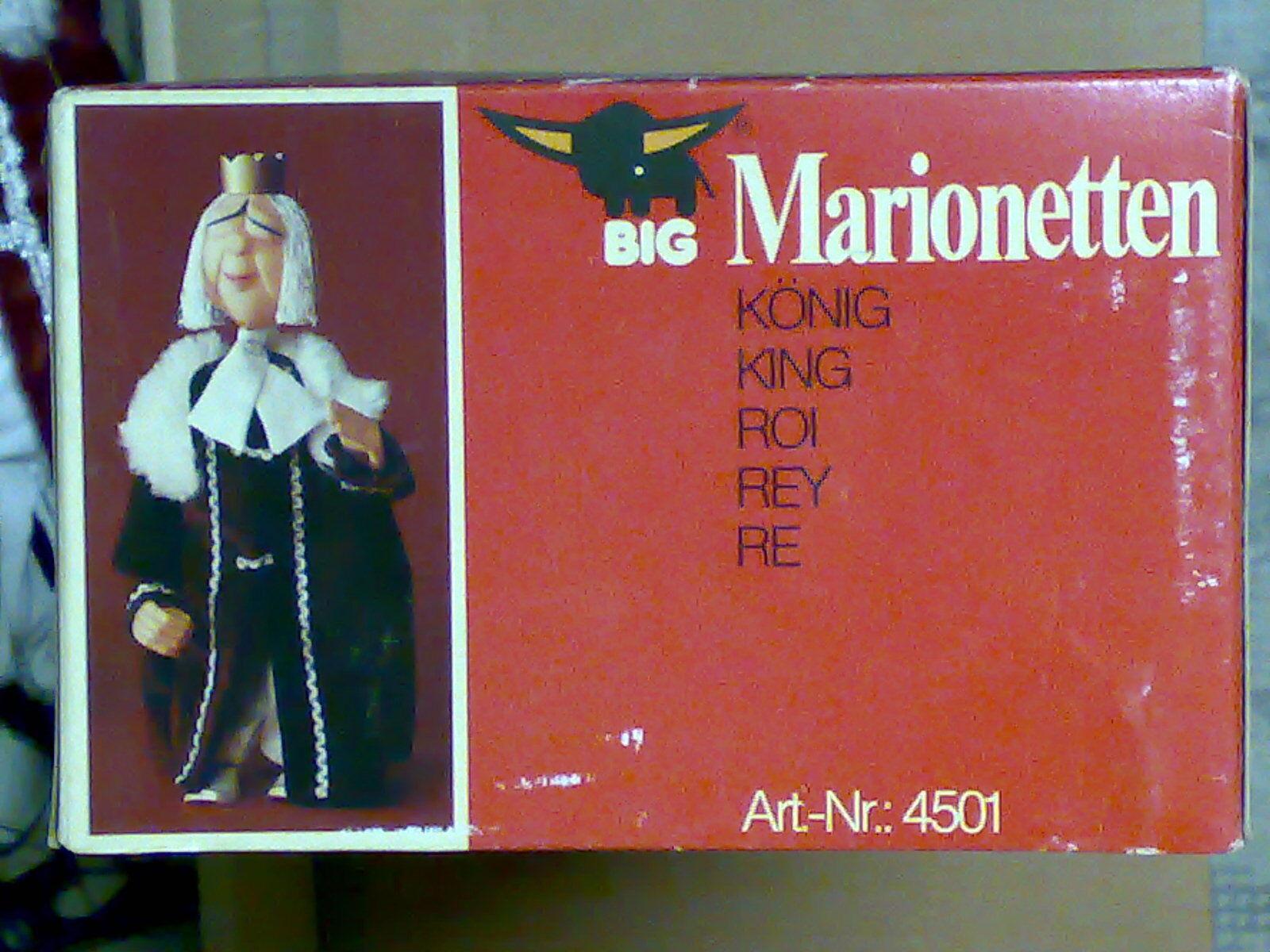 Big Marionetten 45 cm RE King marionetta 4501 NUOVO IN SCATOLA  USSR 1980