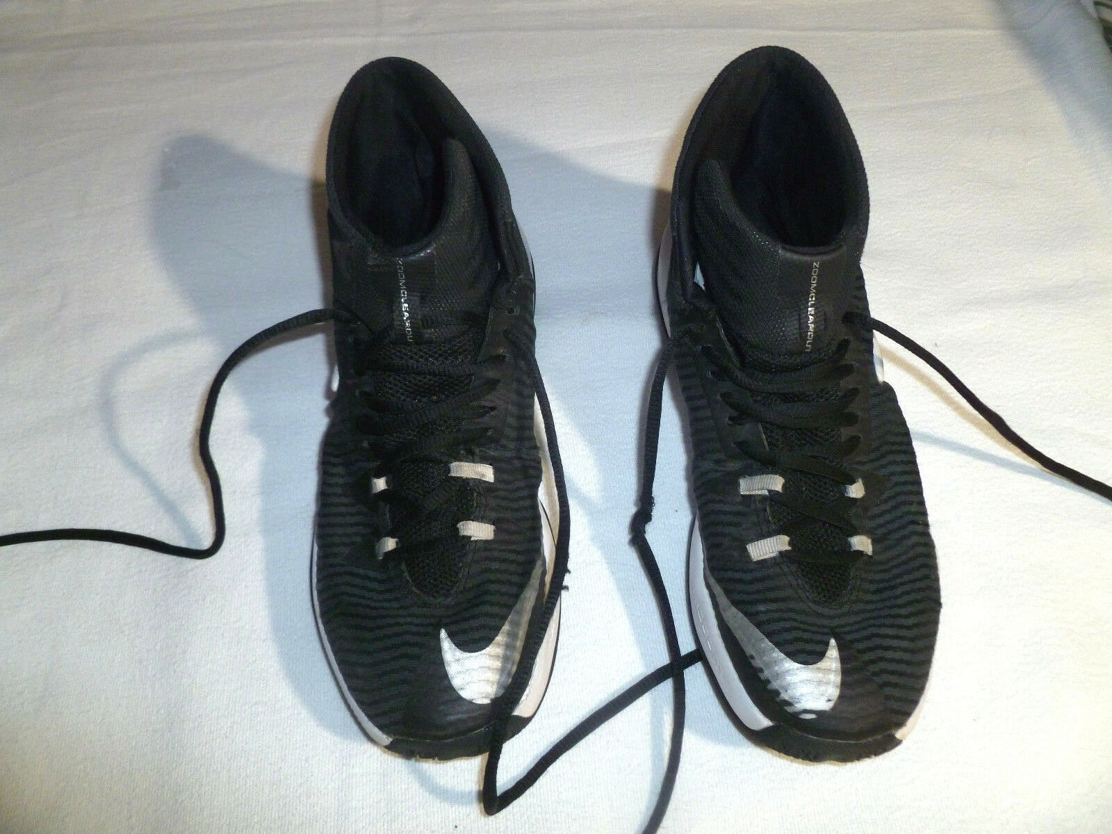 Men's Nike Zoom Clear Out TB Basketball Shoes Size 7 Black White 844372-002