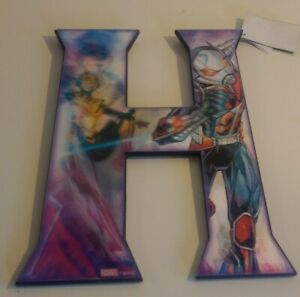 Marvel Avengers Ant Man & Wasp Letter H 3D Lenticular Wall Sign Open Road
