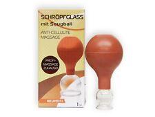 Schröpfglas mit Saugball Schröpfen Vacuum Cupping Glass 2 cm