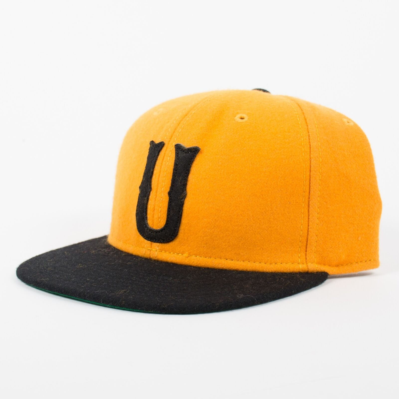 UNDEFEATED Gold Classic U Snapback Hat Gold UNDEFEATED Black Yellow H13 6db700