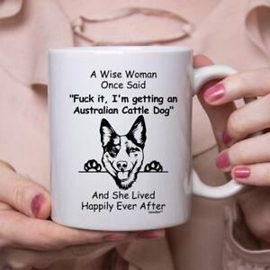 Funny Australian Cattle Dog Gift For Women White Coffee Mug