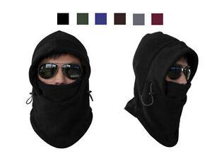 6 in 1 Fleece Thermal Balaclava Sports Motorcycle Bike Ski Face Mask Hat Warmer