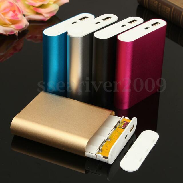 5V 2.1A USB Power Bank Case Kit 4X18650 Battery Charger DIY Box For Mobile Phone