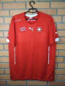 Switzerland Jersey 2014 2015 Home MEDIUM Shirt Football Puma Trikot Maglia