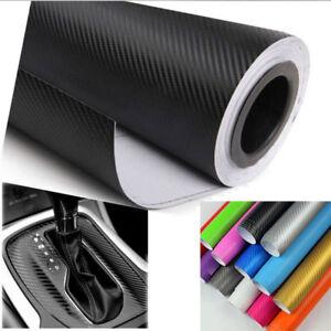 3D-Carbon-Fiber-Matte-Vinyl-Film-Auto-Car-Sheet-Wrap-Roll-Sticker-Decor-Black