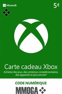 Tarjeta regalo digital de Xbox Live €5 EUR - 5 EURO Xbox código prepago - ES