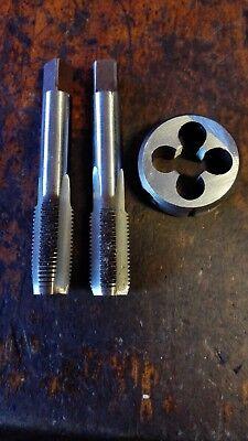 2x M11 x 1.25 RH tungsten steel Hand taps Inter Bottom //plug+OD 25mm die button