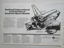 3/1981 PUB ROCKWELL NASA SPACE SHUTTLE COLUMBIA NAVETTE SPATIALE ORIGINAL AD