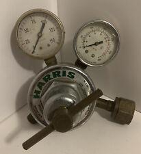 Harris Model 25 100 Dual Gauge Compressed Gas Regulator Steampunk