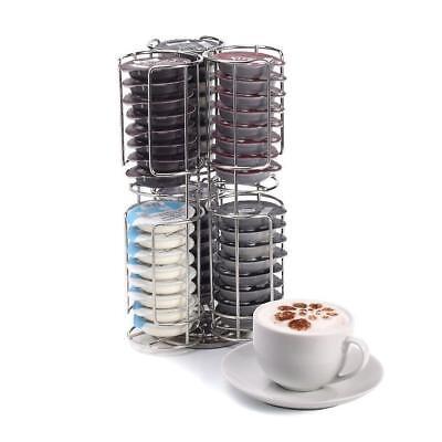 Porta Cialde da 48 porta capsule rotante dispenser in metallo organizer caffè