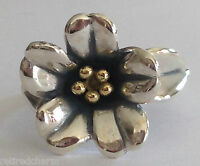 ❤️retired James Avery April Flower Ring 18k Gold Silver Sz 5¼ W/ Ja Box❤️