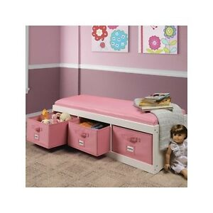 Kids Storage Bench Furniture Toy Box Bedroom Playroom ...