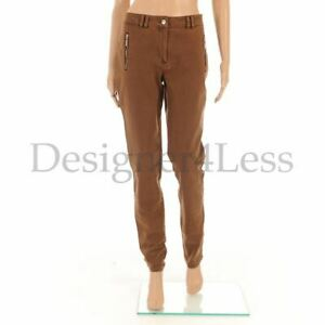JAVIER-SIMORRA-Jean-Tabac-Marron-Coton-Slim-Jambe-Pantalon-Taille-UK-10-MG-449