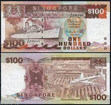SINGAPUR SINGAPORE 100 Dollars dolares 1985-1995 Pick 23c SC- / aUNC