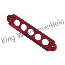 Red Dewhel JDM Billet Aluminum Battery Tie Down For Honda Civic Acura Rsx Ep3 Dc5 Si