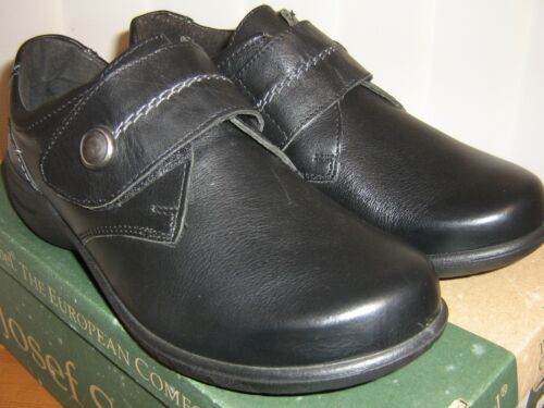 Josef Seibel Fabienne 05 Black Leather Comfort Shoe Touch Fastening SALE