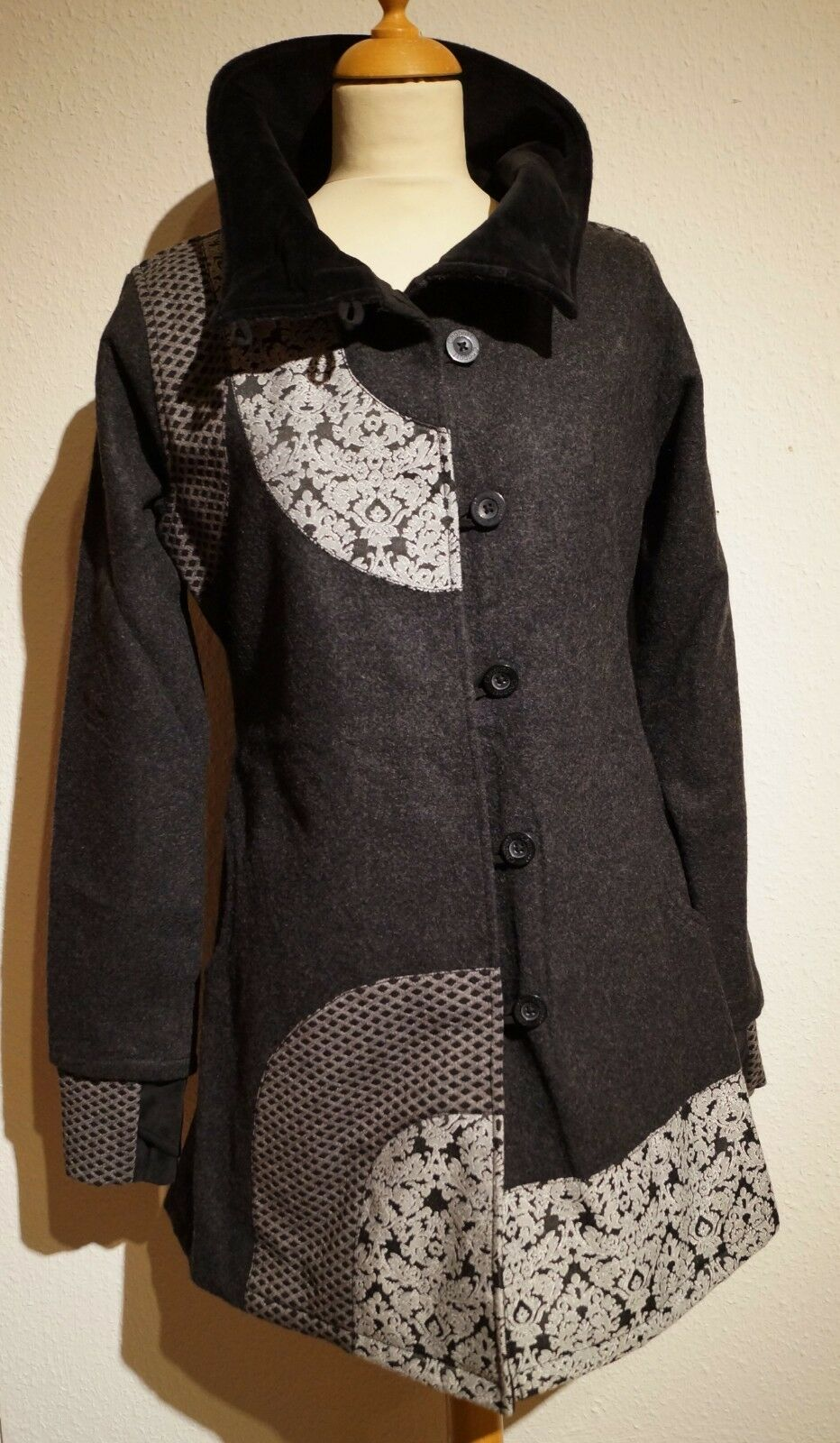 Chapati Woollen Coat short Coat Slightly Fitted G-7793 328 1 12FT - XL