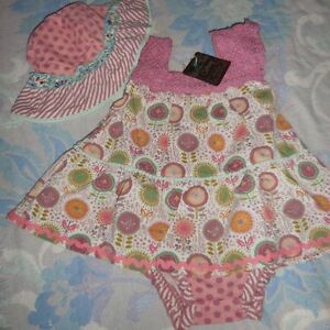 c9f8569877f nwt Matilda Jane romper   dress floppy sun hat set baby girl 18 m 24 ...