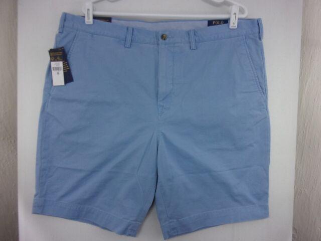 620da6488 Polo Ralph Lauren Stretch Classic Fit Chino Shorts Lt Blue Mens Size 40 New  9