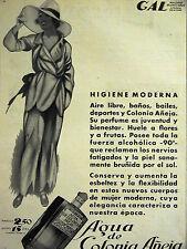 Nuevo Mundo AGUA AQUA de COLONIA ANEJA Perfume 1930 Spanish Art Deco Ad Matted