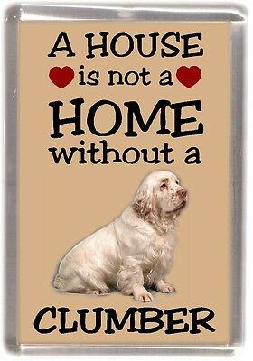 "Clumber Spaniel Fridge Magnet /""A VERY SPOILT ... LIVES HERE/"" by Starprint"