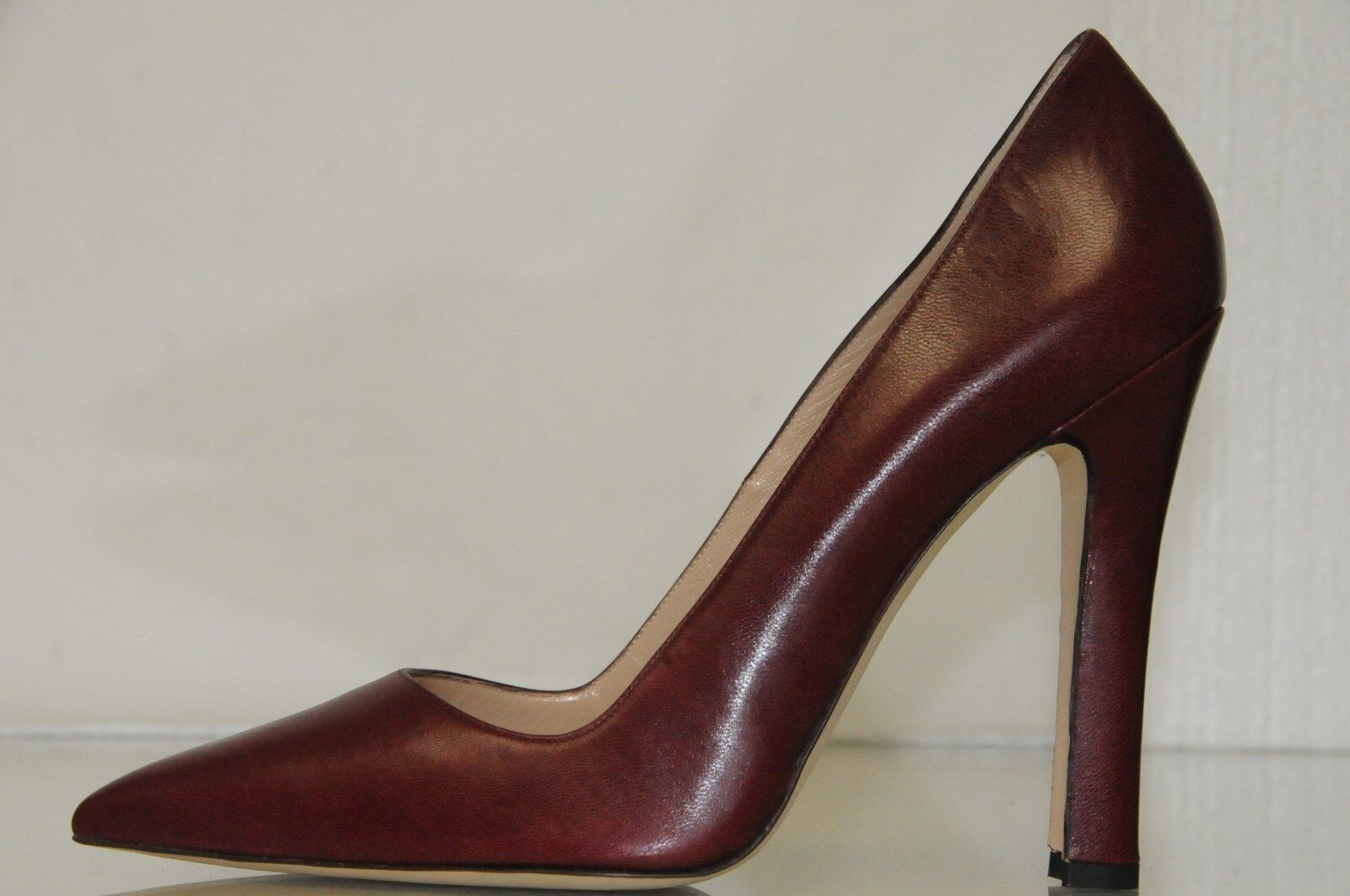 NEW Manolo Leather Blahnik BB Burgundy Wine Leather Manolo Pointy Pumps Heels schuhe 41 d7af91