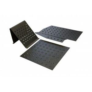 QMS! E30/E36 PLAQUES DE PLANCHER AVEC REPOSE-PIED Manche léger en aluminium noir