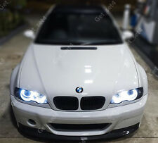BMW e46 PROIETTORE SMD SUPER LUMINOSI Bianco LED ANGEL EYE LUCE KIT UPGRADE CANBUS