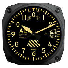 "Trintec Vintage Aircraft Altimeter - Aviation 6"" Wall Clock - 9060V"