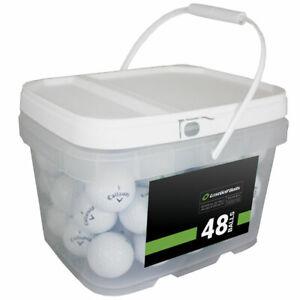 48 Callaway Chrome Soft X Golf Balls *No Markings or Logos* *In a Free Bucket!*